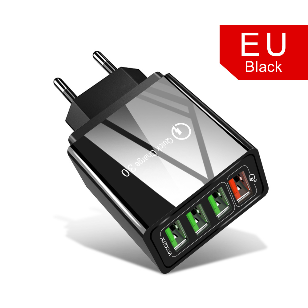 4 Port EU Black