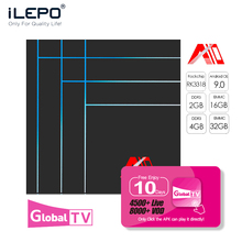 ILEPO A10 TV BOX RK3318 Quad-Cor iptv box android HDMI 2.0 9.0 tv 2G DDR3 rtv top model m3u