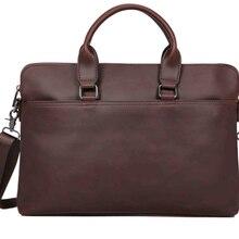 Новое поступление, мужской кожаный портфель, Ретро стиль, модная деловая сумка через плечо, мужская элегантная сумка для взрослых, Bolso Hombre DF354