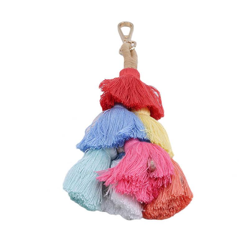 กระเป๋าพวงกุญแจกระเป๋าอุปกรณ์เสริมแขวนเครื่องประดับ VINTAGE จี้ผู้หญิงผ้าเตาอบหลายคัสเซิล SOHO