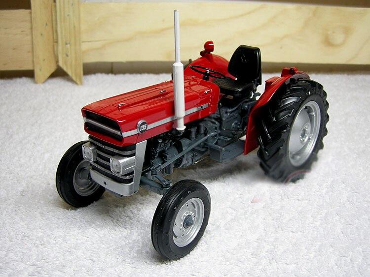 عرض خاص غرامة 1:16 2698 Mf 135 جرار مشي الزراعية مركبة نموذج سبائك جمع نموذج-في سيارات لعبة ومجسمات معدنية من الألعاب والهوايات على  مجموعة 1