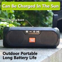 الطاقة الشمسية في الهواء الطلق سماعة بلوتوث محمولة Caixa دي سوم المحمولة راديو FM TWS مشغل موسيقى Boombox USB مكبرات الصوت مكبر الصوت المتحدثون مكبر صوت مكبر صوت بلوتوث