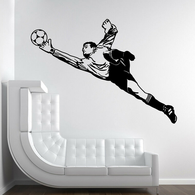 Vinyl Wall Stickers Goalkeeper Soccer Man Wall Decal Football Sports Athlete Wall Murals Removable Posters Kids Room Decor Af026 Wall Stickers Aliexpress