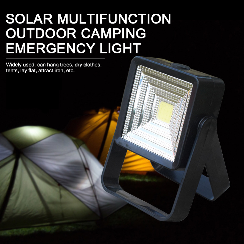 Solar LED Camping Light Portable Rechargeable Emergency Tent Light IP65 Waterproof Outdoor Camping Drop Shipping