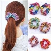 1Pcs Fashion Glitter Scrunchie Colorful Elastic Hair Tie Hair Band Glitter Ponytail Holder Scrunchie Pack Hair Accessories