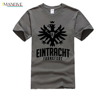 Fashion Style Germania Eintracht Francoforte club Frankfurt am Main SGE Die Aquila ventilatore rosso Uomo  T shirt