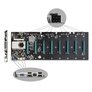 Image 5 - BTC D37 التعدين اللوحة 8 GPU PCI E 16X فتحات DDR3 اللوحة مع USB 2.0 SATA 3.0 منافذ الكمبيوتر أجزاء