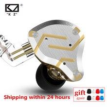KZ ZS10 פרו 4BA 1DD היברידי HIFI מתכת אוזניות ב אוזן אוזניות ספורט רעש מבטל אוזניות AS10 BA10 לZST ZSN פרו ES4 ZSX AS16