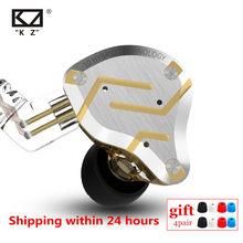 KZ – écouteurs intra-auriculaires en métal hybride ZS10 PRO 4BA 1DD, casque d'écoute de Sport, antibruit, AS10 BA10 ZST ZSN PRO ES4 ZSX AS16