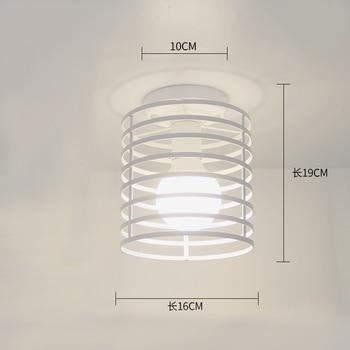 Ceiling lights Minimalist Retro Ceiling Lamp Glass E27 industrial decor  lamps for living room Home Lighting Lustre Luminaria 26