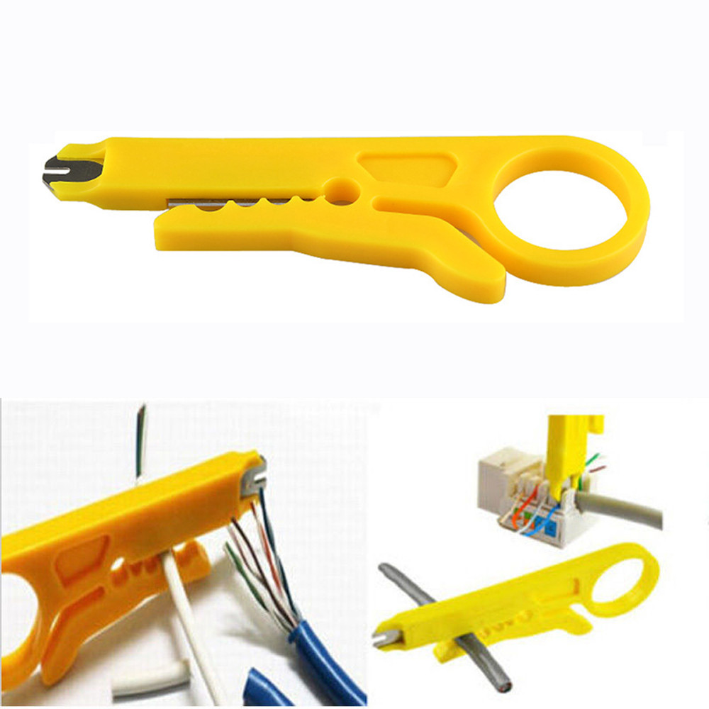 2pcs RJ45 Cat5 Wire Stripper Pliers Cable Cutter Punch Down Tool Network UTP LAN Cable Wire Cutter Stripper Tool