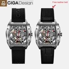 Youpin CIGA تصميم Z سلسلة ساعات المعصم الميكانيكية موضة ساعة فاخرة ساعة شريط مزدوج الياقوت الاصطناعي كريستال al23
