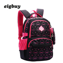 Fashion Print Children Orthopedic School Bags With Pencil Case For Teen Girls Waterproof School Backpack Kids Backpacks Mochila