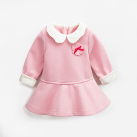 0 4 Years Princess Dress for Baby Girl Long Sleeve Pink Color Toddler Dresses Sweet Girls Skirt Christmas Clothing Sale