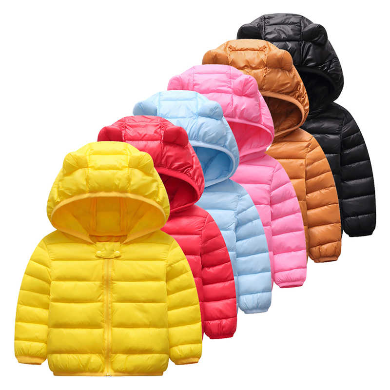 Baby Girls Jacket Autumn Winter Jacket Solid Girls Coat Kids Warm Hooded Outerwear Coat Boys Jacket Coat Children Clothes