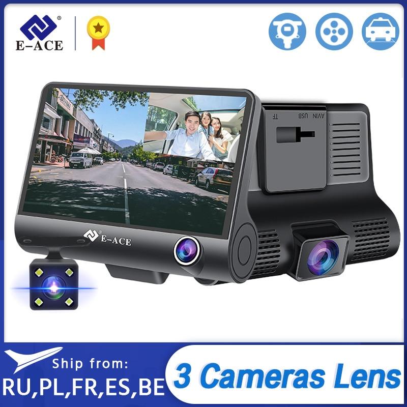 E ACE Dashcam B28 Car DVRs 4 Inch Car Camera FHD 1080P Auto Recorder Dash Cam 3 Camera lens Registrator with Rear View Camera|transformer transformer|transformer 12v to 5vtransformer 5v - AliExpress