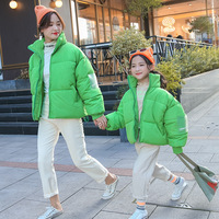 Parent child Girl's Winter Cotton Down Coat Mommy and Me Dress Children's Kids Thicken Jackets Family Matching Outfits