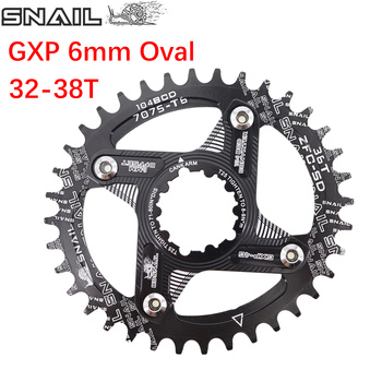 Snail Oval Chainring 6mm Offset GXP  XX1 Eagle X01 GX X1 X0 X9 for sram DM 32T 34T 36 38 MTB Road Bike Direct Mount