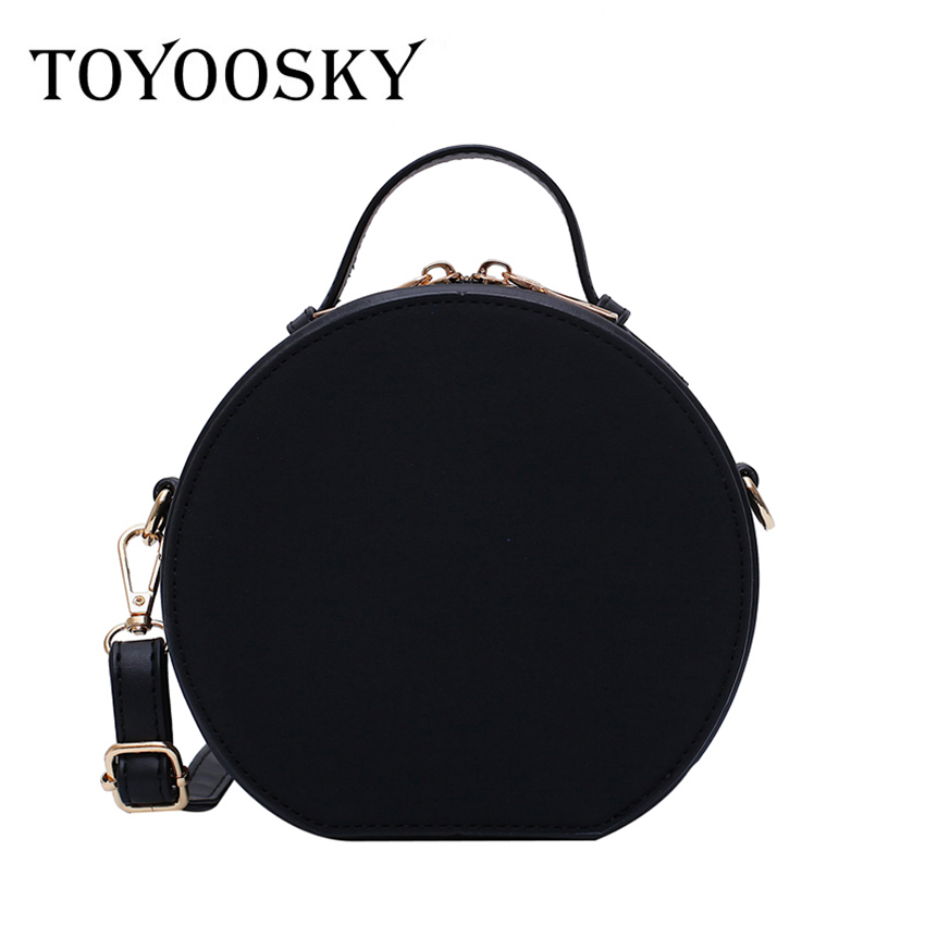 TOYOOSKY High Quality Nubuck Leather Women Handbag Portable Round Messenger Bags Female Scrub Crossbody Bag Circle Bag Bolsas