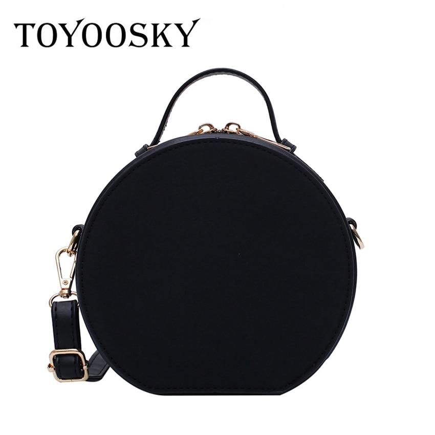 TOYOOSKY High Quality Nubuck Leather Women Handbag Portable Round Messenger Bags Female Scrub Crossbody Bag Circle Bag Bolsas
