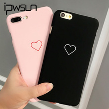 iPWSOO Couple Love Heart Phone Case For iPhone