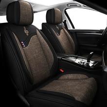 Deluxe universale lino copertura di sede dellautomobile Per ssangyong kyron korando actyon rexton per suzuki jimny sx4 baleno grand vitara auto sedile