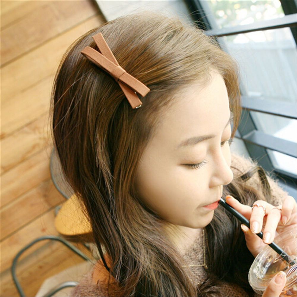 Simple Bowknot Hairclips Bow Cross Ribbon Fabric Barrettes Girls Hairpins Female Hairgrips Headwear Hair Accessories New Arrival