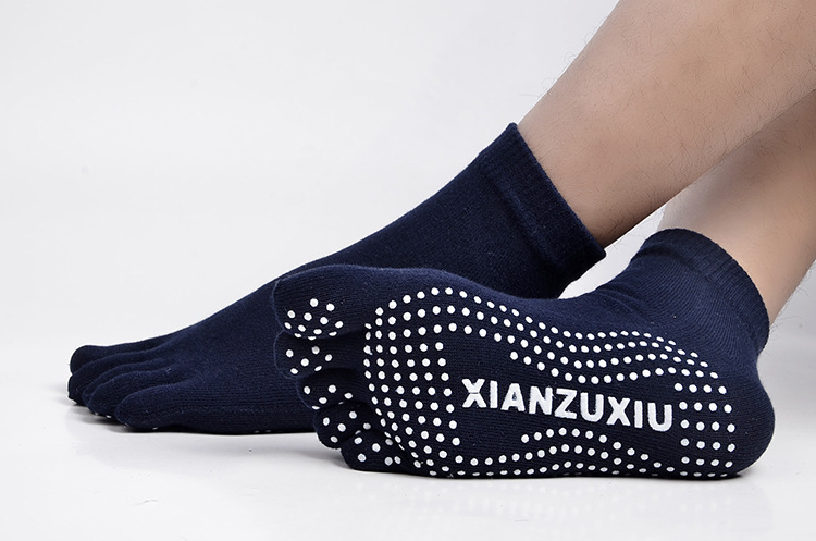 Men Yoga Socks Backless Anti-Slip Ankle Grip Socks Dots Pilates Fitness Gym Ladies Sports Socks Dance Ballet Youth Socks