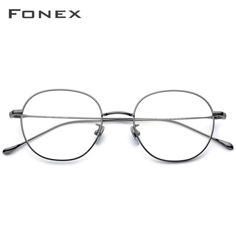 FONEX B titane lunettes cadre hommes ultraléger rétro rond lunettes de Prescription femmes lunettes myopie optique-lunetterie 886