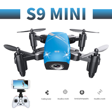 RC Quadcopter S9 S9W S9HW Mini Drone With Camera HD WIFI FPV Foldable Selfie Drones Professional Micro Pocket Drone Helicopter