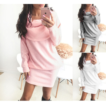 Autumn Winter Black Long Sleeve Knitted Sweaters Women Sexy Bodycon Dresses Female Fashion Pullover Clothes c.h.i.c xxl Pink 5xl plus size sexy dress pullover bodycon casual fashion female autumn spring home clothes long oversized dresses indian new