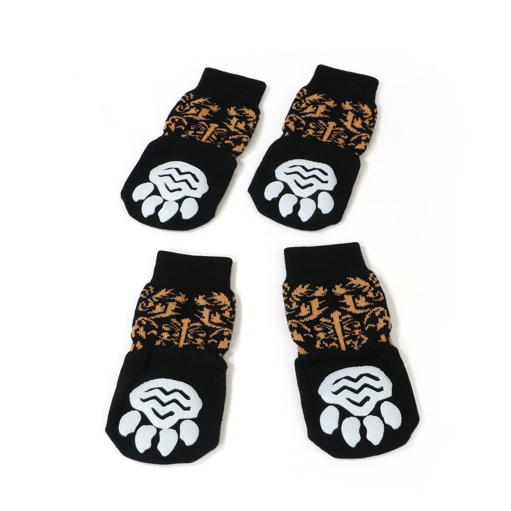 New Extra Large Pet Socks Alaskan Pine Lion Golden Hair Samo Socks Big Dog Foot Cover Non-slip Warm