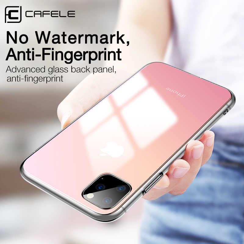 CAFELE 勾配 iphone 11 プロマックス高級ソフトエッジ + ガラス Apple の Iphone 4 11 プロアンチスクラッチ