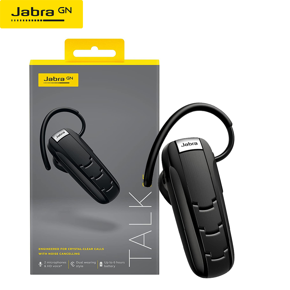 Jabra Talk 35 Bluetooth Headset For High Definition Hands Free Calls With Dual Mic Noise Cancellation And Streaming Multimedia Bluetooth Earphones Headphones Aliexpress