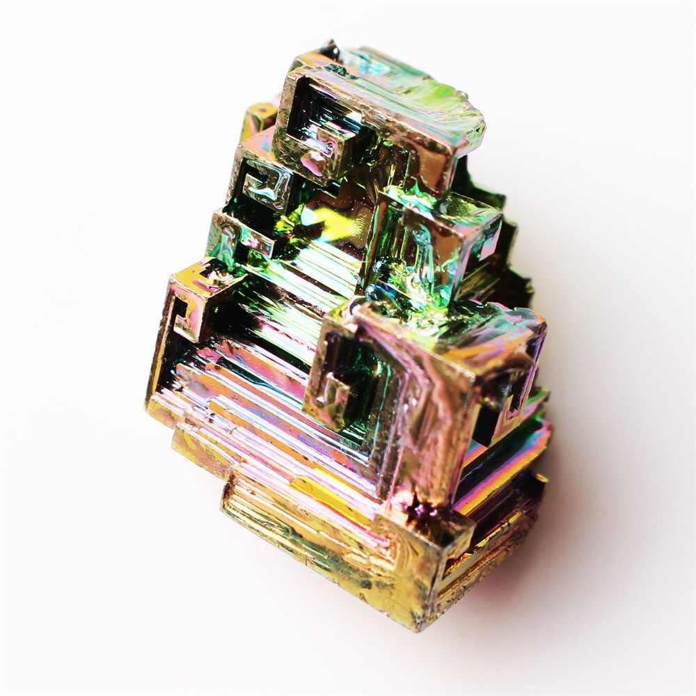 1pc Arco Iris bismuto Mineral de Metal de cristal Mineral espécimen de piedra de arte Original arte decorativo del artículo