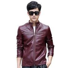2019 Autumn Winter Mens PU Leather Jacket Plus Size 5XL Motorcycle Coats Male Business Jaqueta De Couro