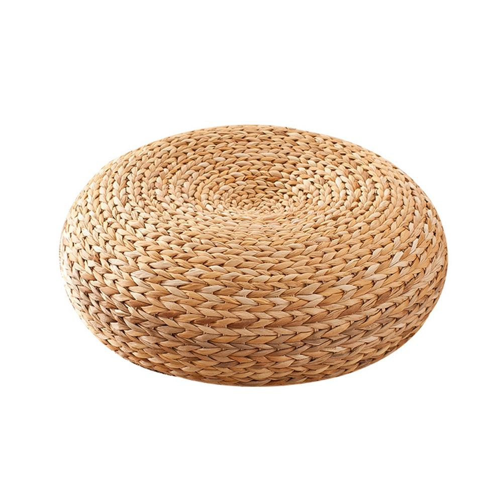 45x15cm Natural Straw Round Handmade Cushion Circle Thickened Round Yoga Pillow Floor Seat Mat For Sitting Home Decor