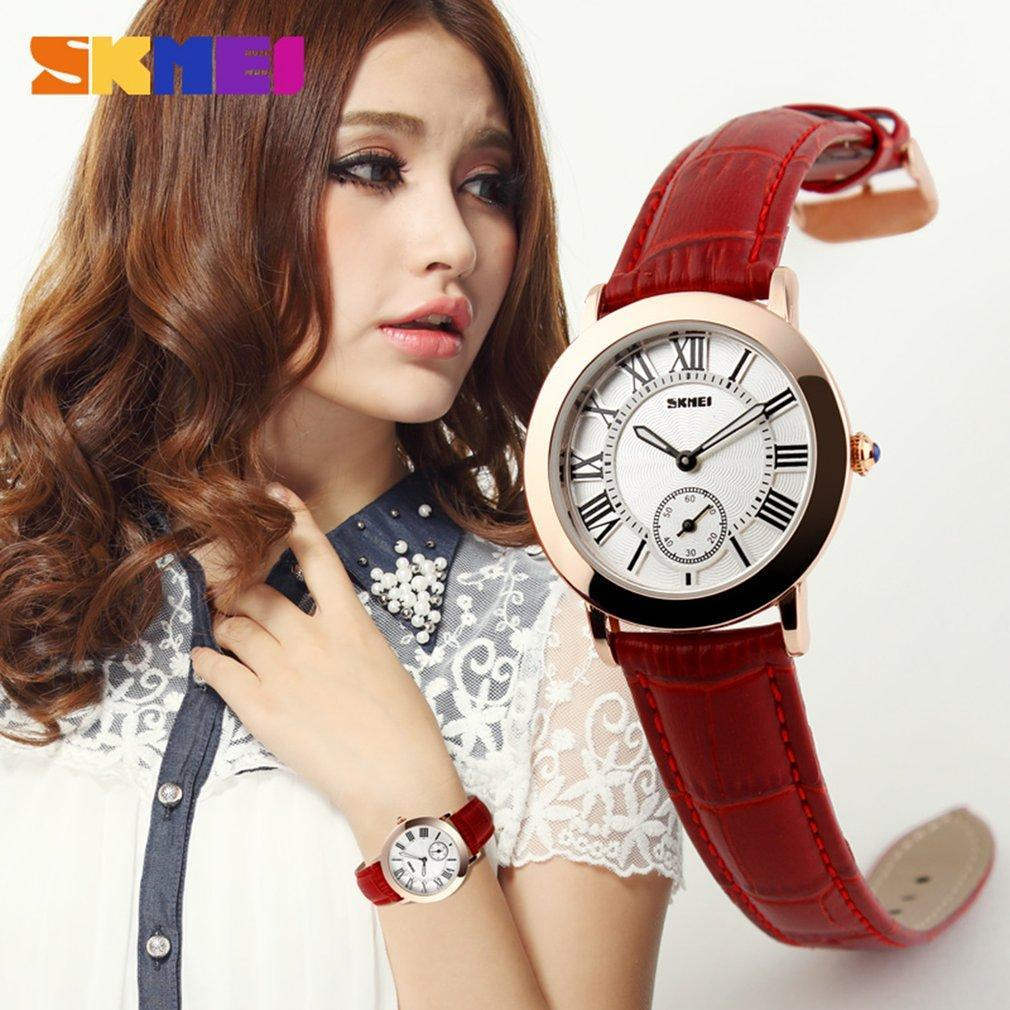 SKMEI 1083 Full Automatic Mechanical Movement Vintage Waterproof Women Watch