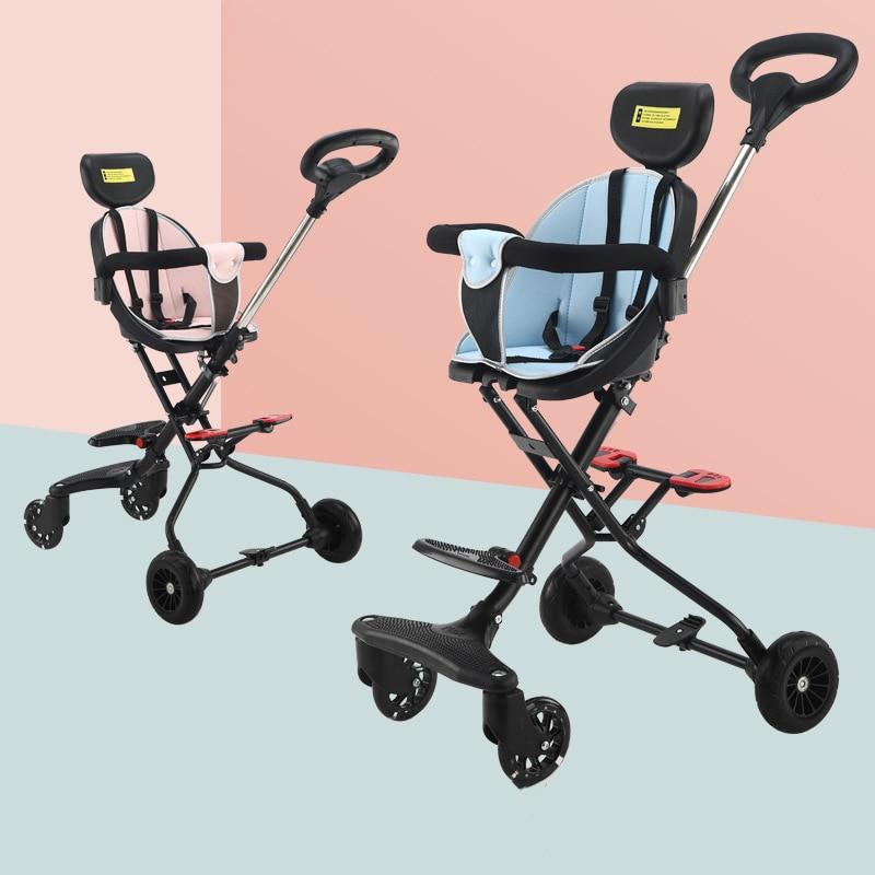 Baby High Landscape Stroller Foldable Lightweight Stroller Four-wheeled Baby Stroller  Baby Car Travel Stroller car