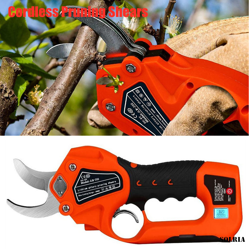 Protable Cordless Pruning Shears   6 2Ah Lithium Battery Electric Tree Pruning Tool Kits1 2 Inches Cutting Diameter Tree Cutter