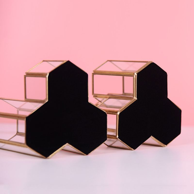 Hollow Three Hexagons Pen Holder Makeup Brushes Vase Storage Box With Nordic Style Home Office Desk Container Tool D08B