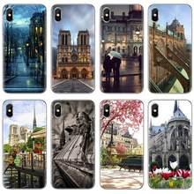 Para Samsung Galaxy A10 A30 A40 A50 A60 A70 a12 a51 a31 a41 a71 a20e a21s M30 Catedral de Notre-Dame en Paris Soft Case Habitação