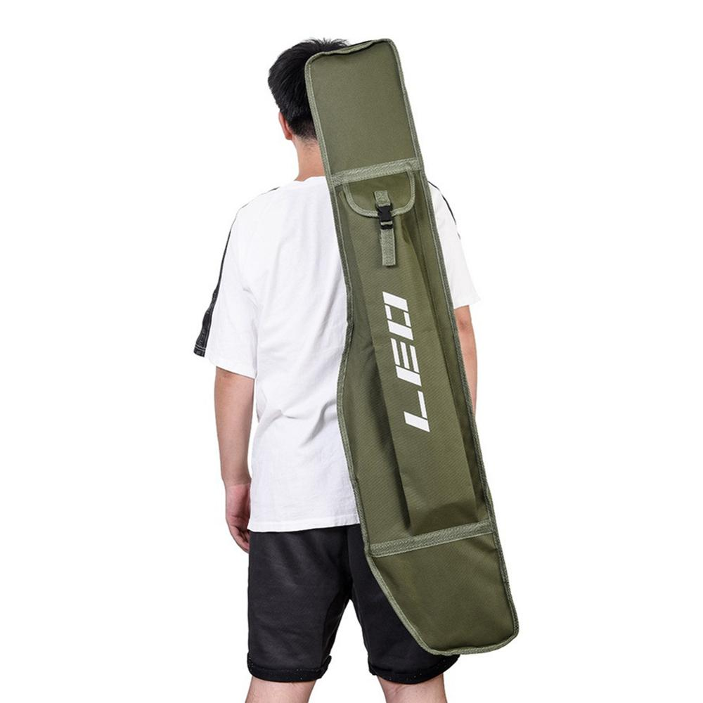 1pc 1.2m Portable Single Layer Big Belly Fishing Rod Bag Storage Pack Fishing Carry Backpack Fishing Pole Storage Case for Pesca
