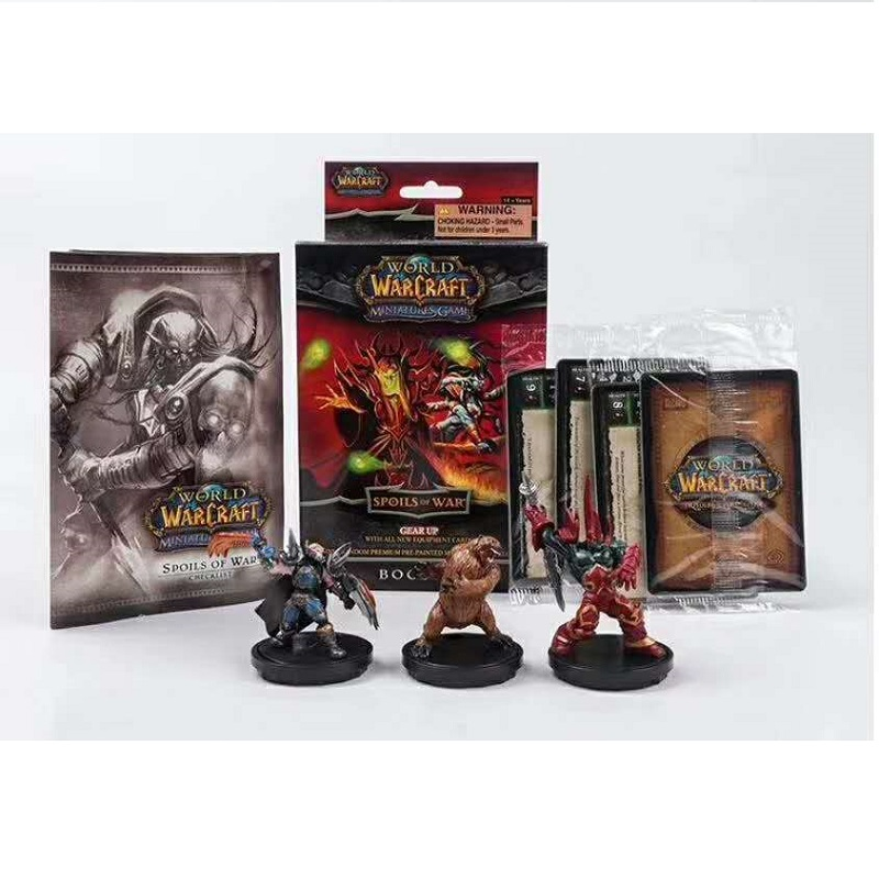 Original WORLD Of WARCRAFTS Action Figures Limited Collection Random 3pcs/set Anime Figure Model With Rare Cards Toy