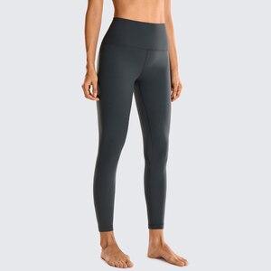Image 2 - SYROKAN kadınlar mat fırçalanmış açık polar tayt atletik yüksek belli Squat geçirmez Yoga pantolon 25 inç