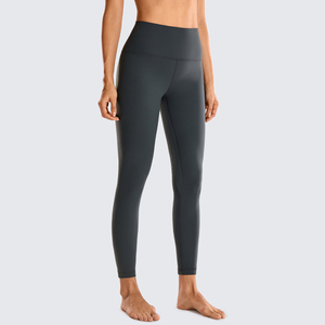 Image 2 - Syrokan feminino fosco escovado luz fleece leggings atlético cintura alta agachamento à prova de yoga calças 25 polegadas