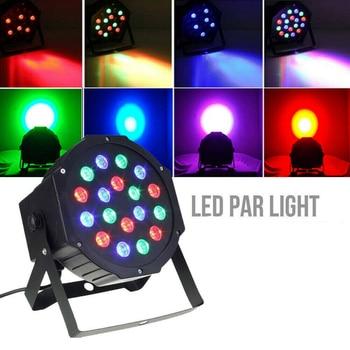 24W 18LED Stage Light RGB Disco Light Party Lights Disco Lamp Crystal Magic Ball Bulb DMX Par Light 100-240V Disco Club фото