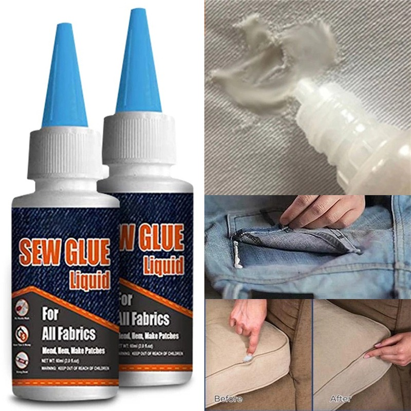 Secure Stitch Liquid New Sewing Solution Kit Multi Liquid Glue Multi-Purpose Glue For Full Coverage Application