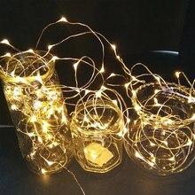 Guirnalda de luces LED de 1 ~ 5M para botella de vidrio artesanal, regalos para el Día de San Valentín, decoración para fiesta de cumpleaños y Navidad