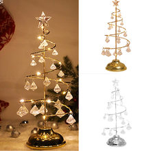 LED Holiday Crystal Christmas Tree Light Battery Operated Table Window Decoration Home Office YU-Home(China)